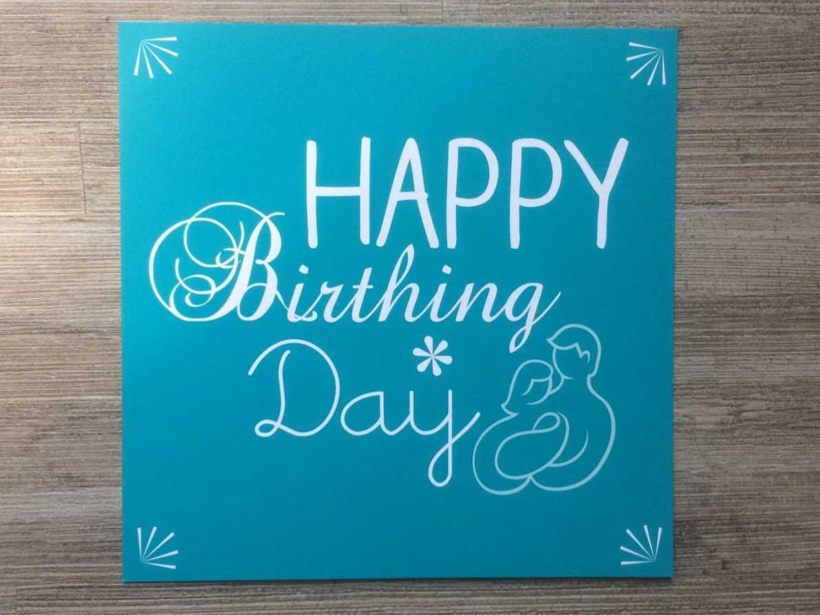Happy hypnobirthing card